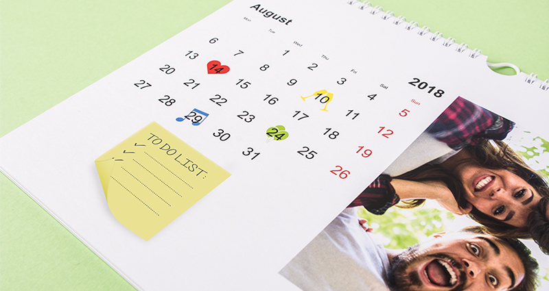 "Fotokalender als ""to do list"" – 2. Bild"