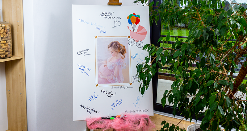 A Photo Canvas guest book