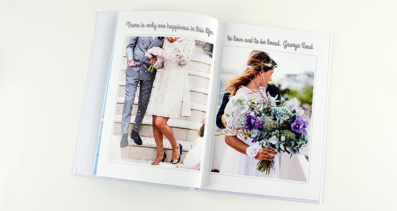 A wedding Photo book.