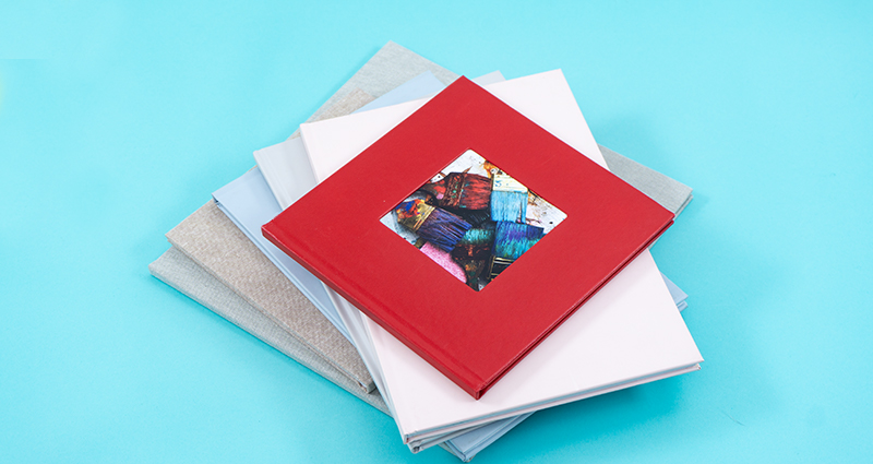 An Exclusive Photo Book with a cover bound in glossy eco-leather