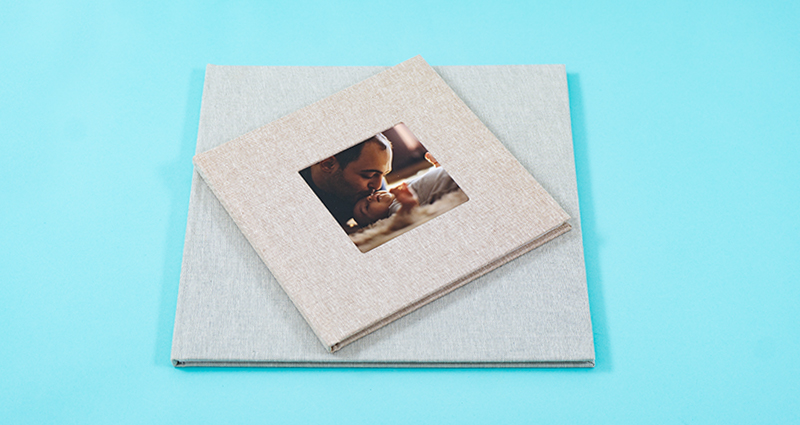 An Exclusive Photo Book with a linen-bound cover