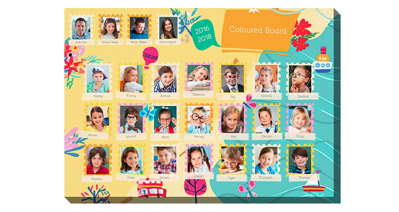 Coloured Board – photo canvas for children in vivid colours.