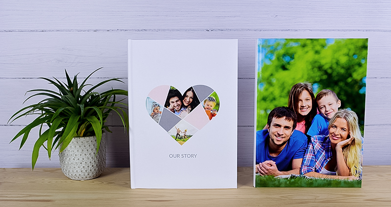 Two photo books with family pictures