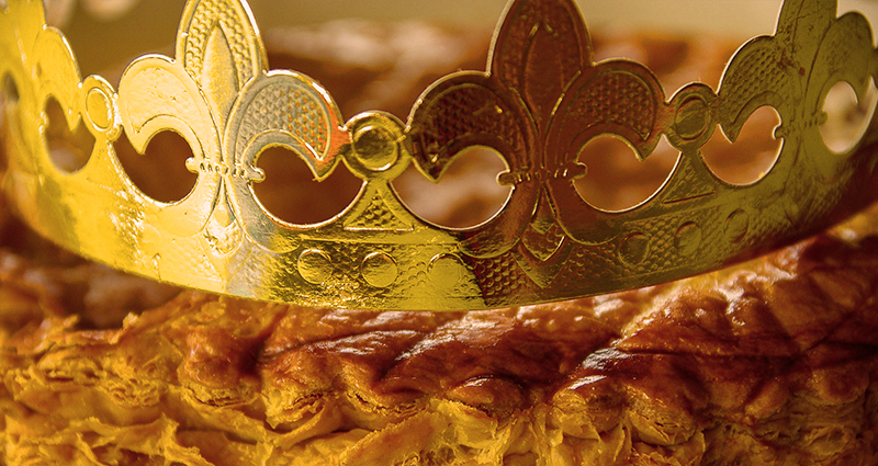 French Three Kings day's cake -  Galette de Rois.
