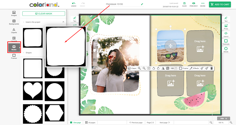 How to add a frame in Colorland's editor? - screenshot 1.
