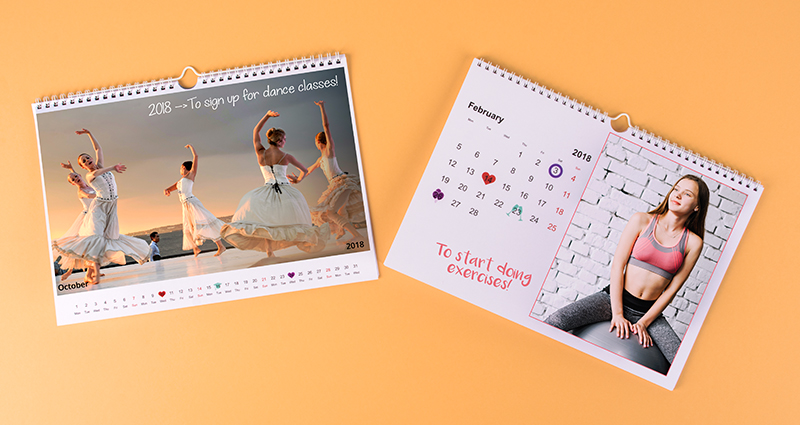 """New Year's resolves"" calendar – 1."