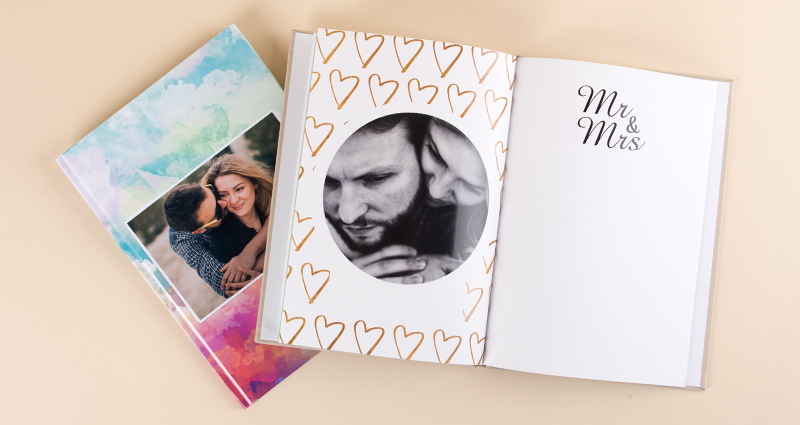 Photo Book Classic with engagement pictures