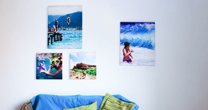 Photo Canvases with holiday photos