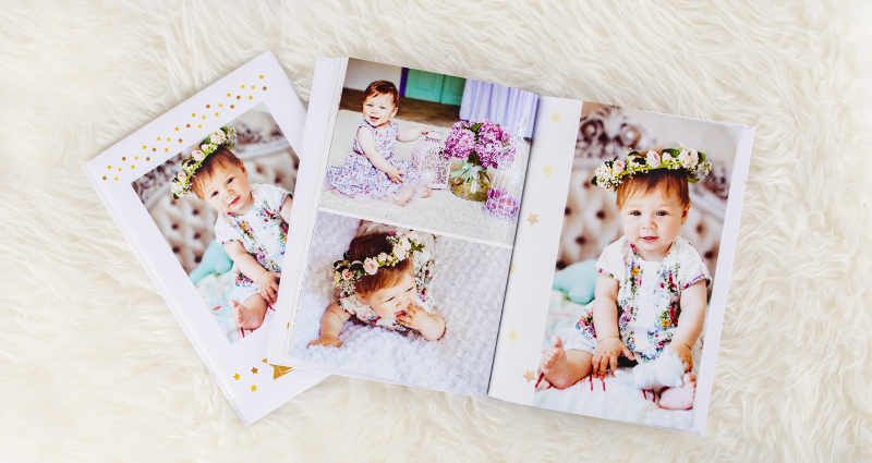 Photo book from a baby's photo shoot