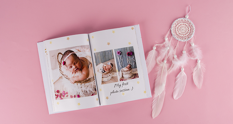 Photo book from a newborn baby's shoot 2