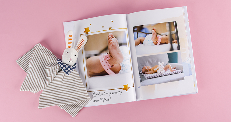 Photo book of a newborn baby's picture