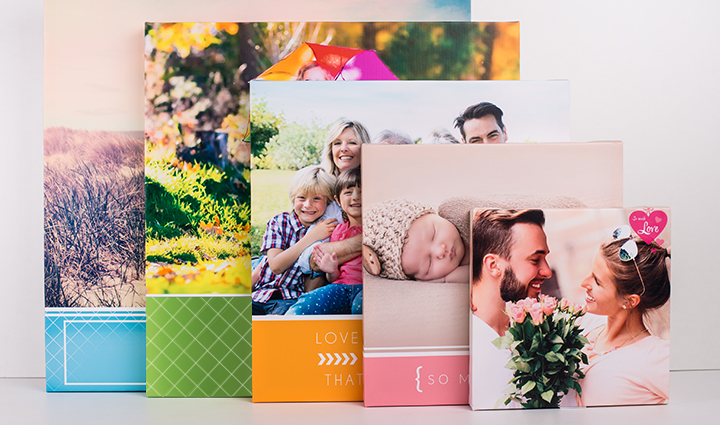 Photo canvases in various sizes