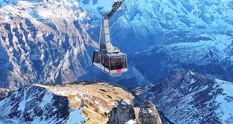 Picture of a mountain lift