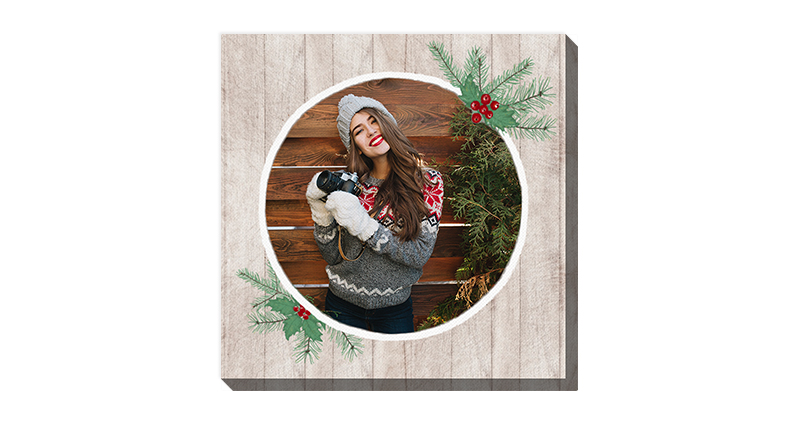 Season's Greeting, a template of a photo canvas