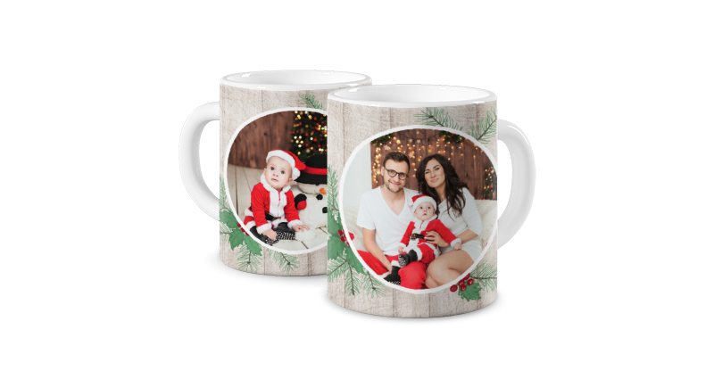 Season's Greeting, a template of a photo mug