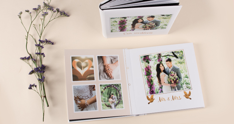 Wedding Photo Album with rigid pages -2