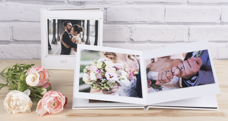Wedding Photo Album with rigid pages