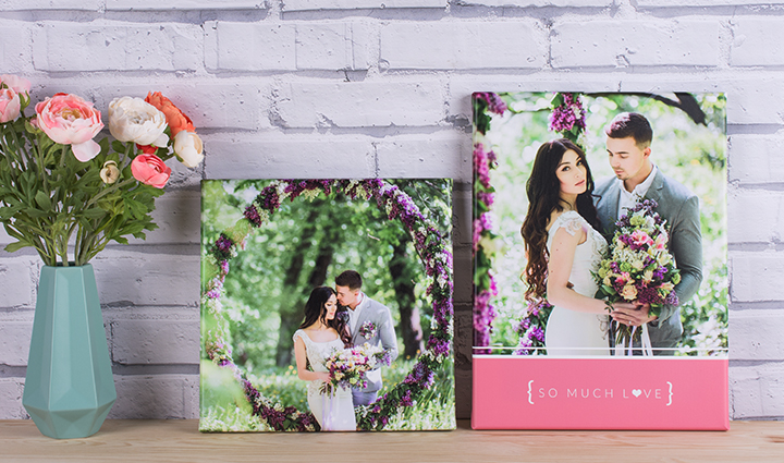 Wedding photo canvases