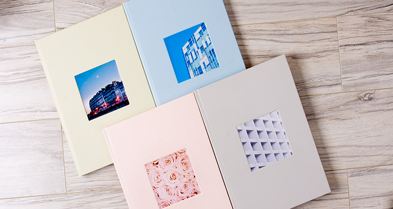 Four new pastel covers of the Photo Book Exclusive