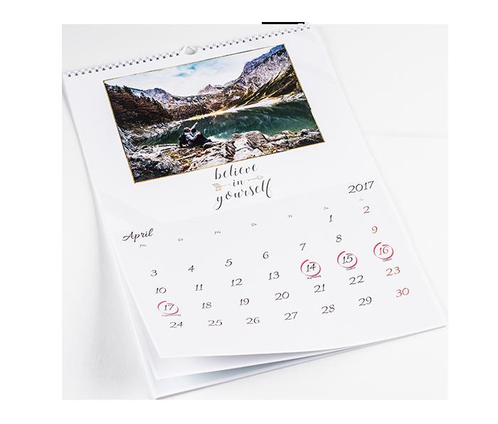 photo calendar a3 format create your photo wall calendar colorland