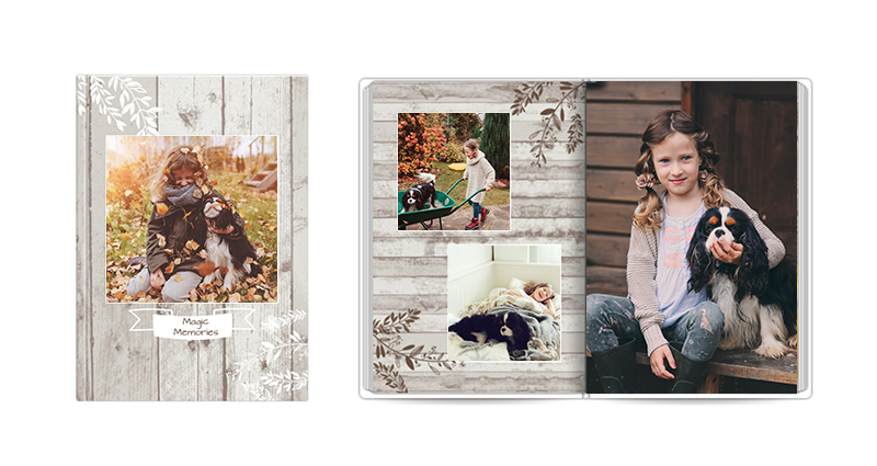Magic Moments – a rustical template with toned colours.
