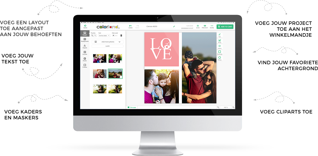 Photo Canvas editor