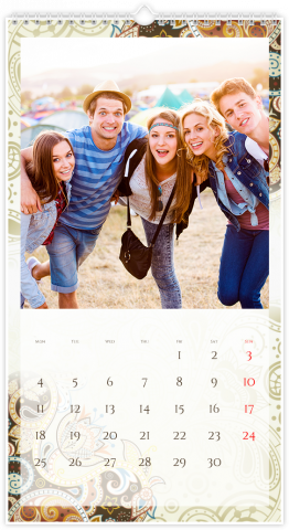 Calendrier Photo 33x60,5 (XL) FLORAL