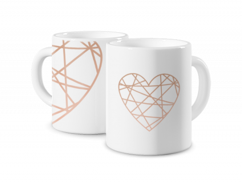 Mug Coloré Coeur en or
