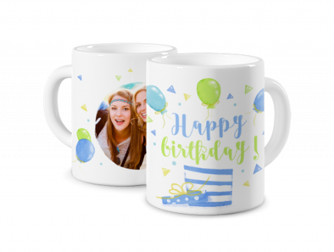 Coloured Mug Happy Birthday