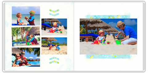 Luxury Photo Album 15x15 Square Exotic Holidays