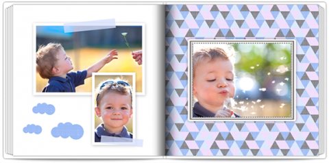 Luxury Photo Album 15x15 Square Blue Clouds