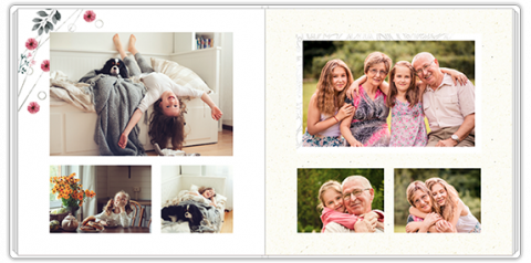 Luxury Photo Album 15x15 Square A gift for Grandparents