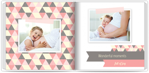 Luxury Photo Album 15x15 Square Pink Butterfly