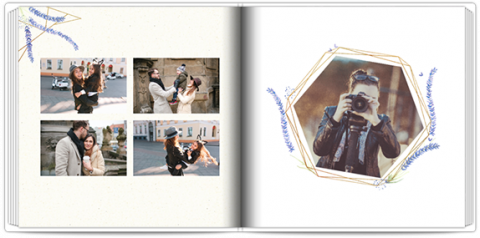 Luxury Photo Album 15x15 Square Lavender