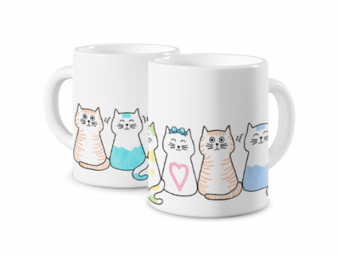 Magic Mug Cat Family