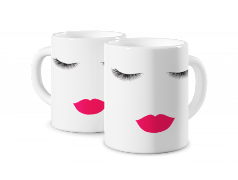 Magic Mug Eyelashes Lips