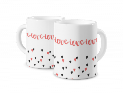 Magic Mug Love and Hearts