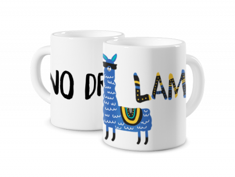 Mug Coloré No drama lama