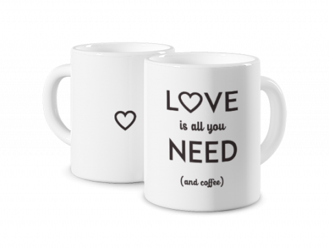 Mug Coloré Love Is All You Need