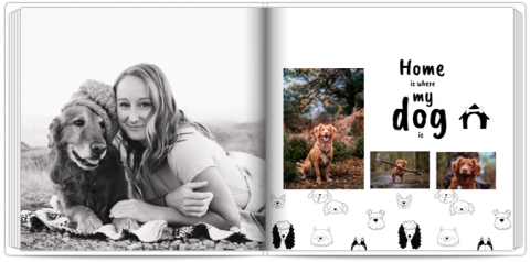Photo Book 24x24 Photo Book with a Dog