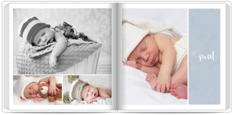 Photo Book 24x24 Sweet Angel - Blue