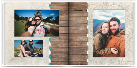 Photo Book 24x24 Travel Map