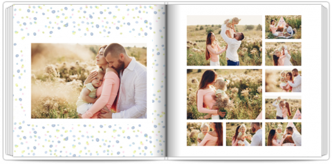 Photo Book 9,5x9,5 inches Polka Dots