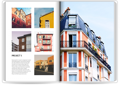 Photo Book A4 Portrait Architecture Portfolio