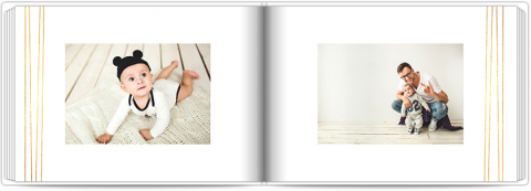 Photo Book A5 Softcover White and Gold