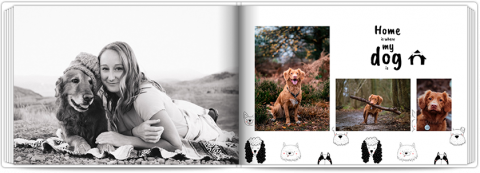 Photo Book A5 Softcover Photo Book with a Dog