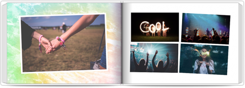 Photo Book A5 Softcover Colourful Background