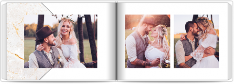 Photo Book A5 Softcover Marble Background