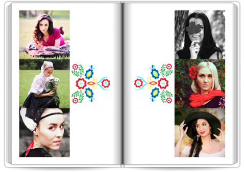 Photo Book Exclusive A4 Portrait Folk Patterns