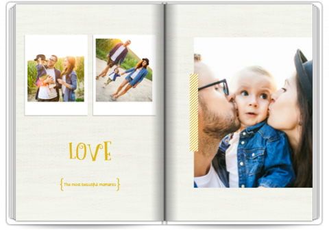 Photo Book A4 Portrait Happy Family